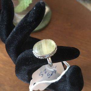 Pale Heliodor Crystal 925 Silver Ring